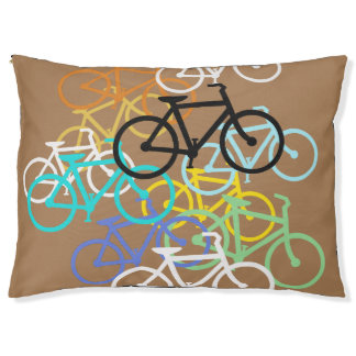 Bicycles Design...choose your color background Pet Bed