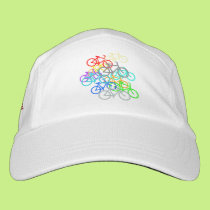 Bicycles Design with Amrican Flag Side Accent. Headsweats Hat