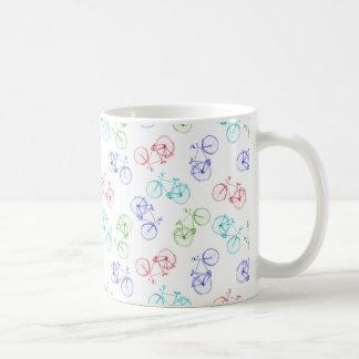 Bicycles doodle coffee mug