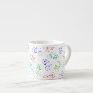Bicycles doodle espresso cup