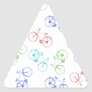 Bicycles doodle triangle sticker