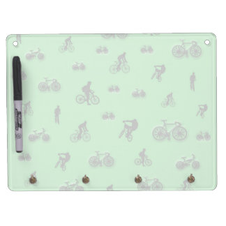 Bicycles Dry Erase Board With Keychain Holder