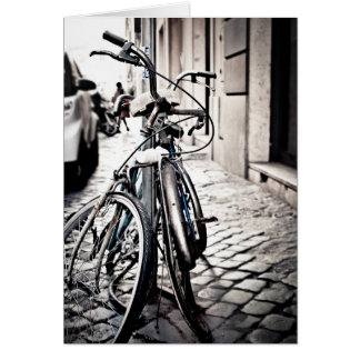 Bicycles in Rome, Italy Greeting Card