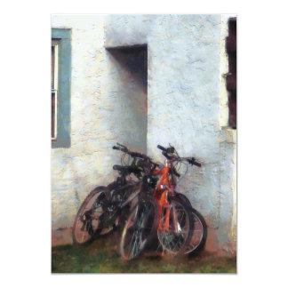 Bicycles in Yard Card