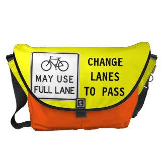 Bicycles May Use Full Lane Commuter Bag Messenger Bag