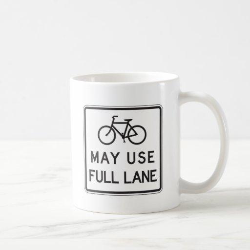 Bicycles May Use Full Lane Coffee Mugs