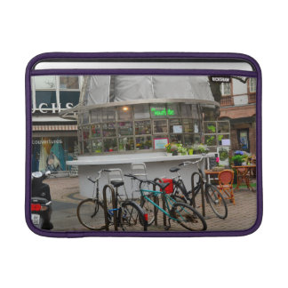 bicycles outside a florist in Strasbourg France MacBook Sleeve