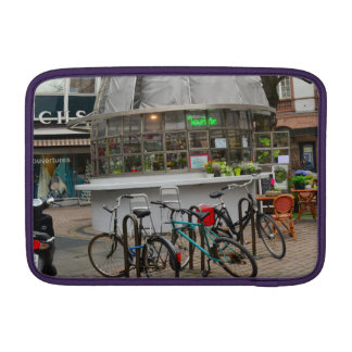 bicycles outside a florist in Strasbourg France Sleeve For MacBook Air