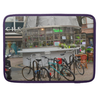 bicycles outside a florist in Strasbourg France Sleeve For MacBooks