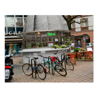 bicycles outside a florist in strassburg France Postcard