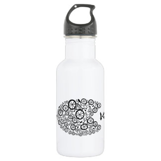 Bicycles over Cars Water Bottle