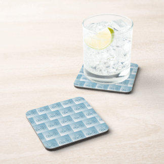 Bicycles pattern drink coaster