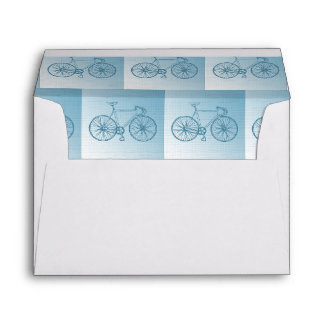Bicycles pattern envelope