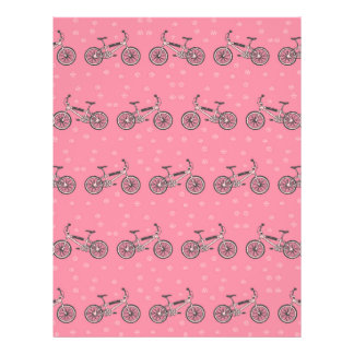 Bicycles pattern flyer