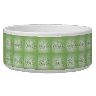 Bicycles pattern dog water bowl