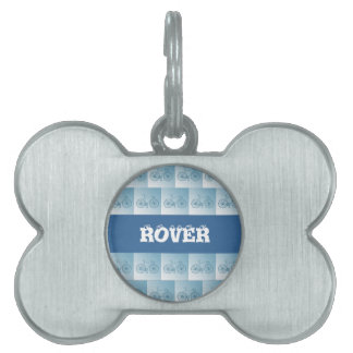 Bicycles pattern pet tags