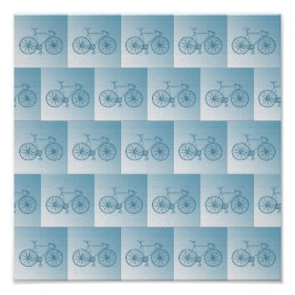 Bicycles pattern poster