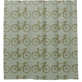 bicycles pattern / shower curtain