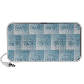 Bicycles pattern iPhone speakers
