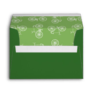 Bicycles seamless pattern envelope