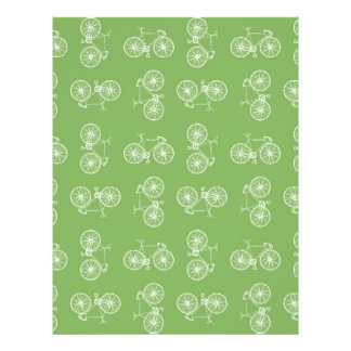 Bicycles seamless pattern flyer