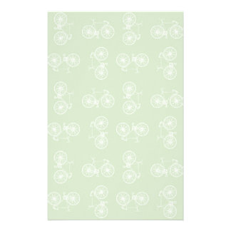 Bicycles seamless pattern stationery