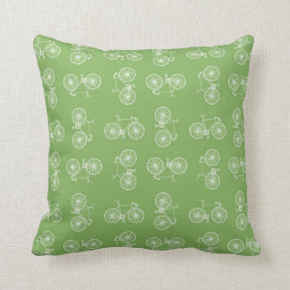 Bicycles seamless pattern throw pillow