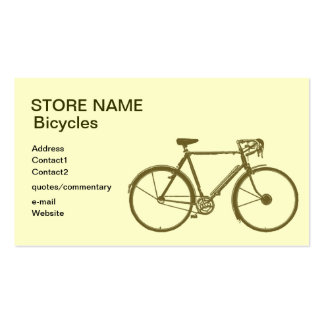 Bicycles store business cards