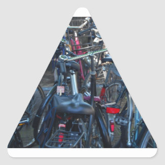 Bicycles Triangle Sticker