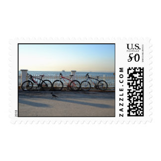 Bicycles with a Crow Postage