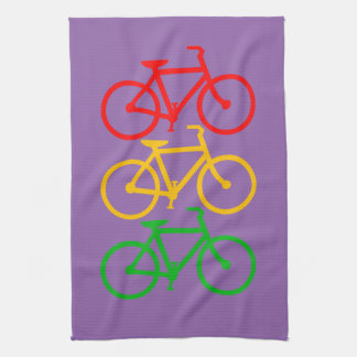 Bicycles with your background. hand towel