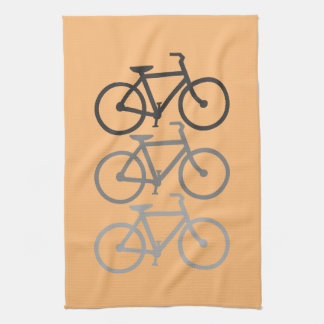Bicycles with your background. towel