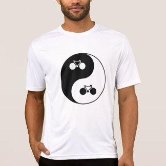 bicycles, yin-yang symbol tee shirt