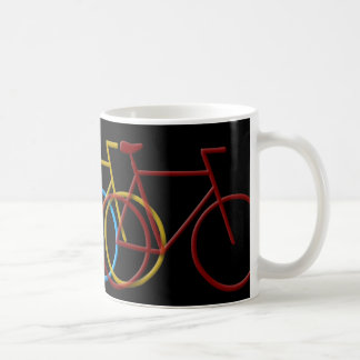 Bicyclesin3ColorsBig Coffee Mug