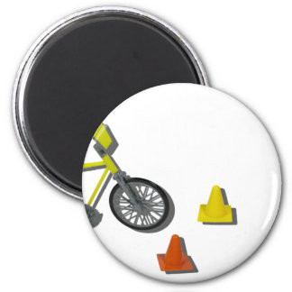 BicycleTrafficCones100711 2 Inch Round Magnet