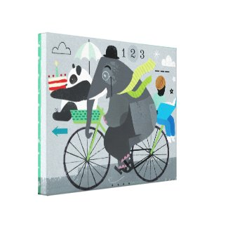 Bicyclette Canvas Print