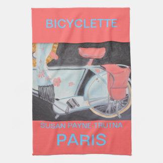 BICYCLETTE PARIS KITCHEN TOWEL