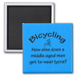 Bicycling 2 Inch Square Magnet