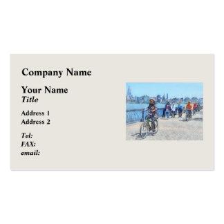 Bicycling Along Pier A Hoboken NJ Business Cards