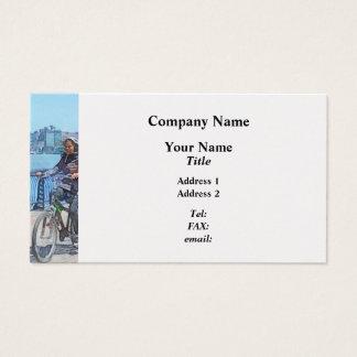 Bicycling Along Pier A Hoboken NJ Business Card