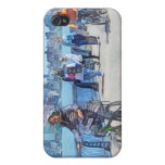Bicycling Along Pier A Hoboken NJ iPhone 4/4S Covers
