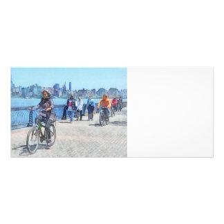 Bicycling Along Pier A Hoboken NJ Rack Card