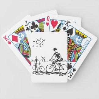 Bicycling Bike Sketch Bicycle Playing Cards