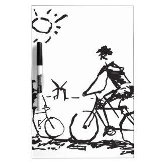 Bicycling Bike Sketch Dry Erase Whiteboards