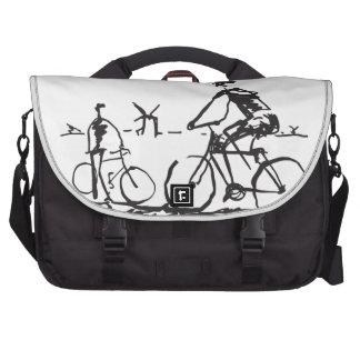 Bicycling Bike Sketch Laptop Bags