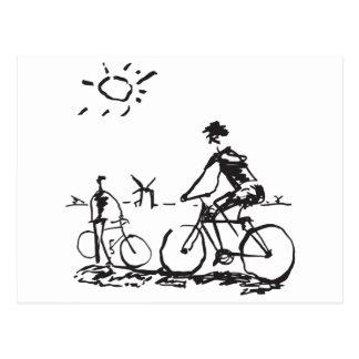 Bicycling Bike Sketch Postcard