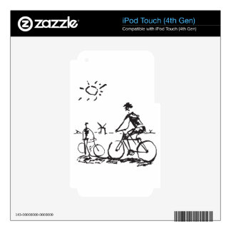 Bicycling Bike Sketch iPod Touch 4G Decal