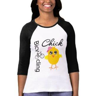 Bicycling Chick zazzle_shirt