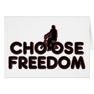 Bicycling Choose Freedom Card