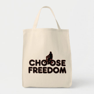 Bicycling Choose Freedom Tote Bag